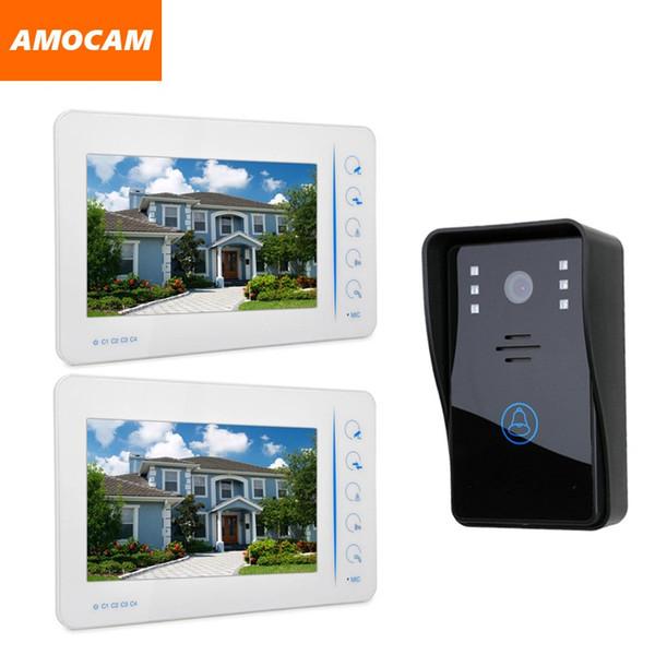 7 Inch Touch Screen Video Door Phone Intercom Doorbell System Wired Video Doorphone Speakerphone Support 4