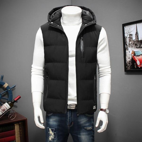 Winter Large Size Hooded Winter Vest For Men Sleeveless Jacket Coats Casual Warm Padded Men's down Waistcoat 6XL 7XL 8XL YT50164