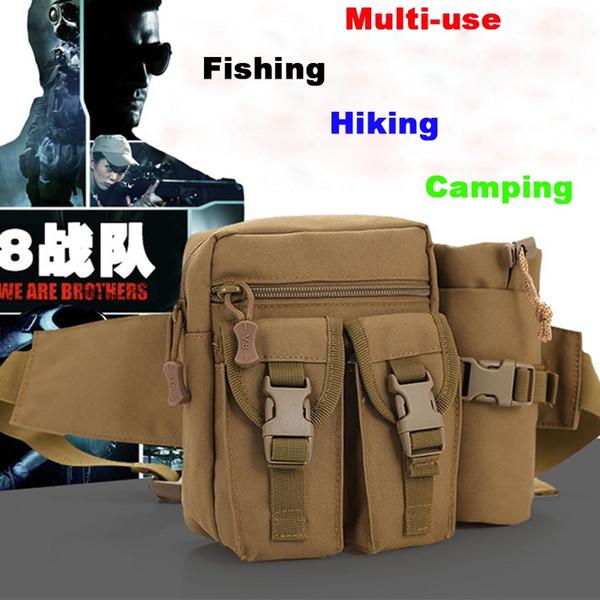 Nylon Multifunctional Fishing Bag Outdoor Waist Shoulder Bags Reel Lure carrier storage Bags fishing tackle camping hiking#C0 #321658