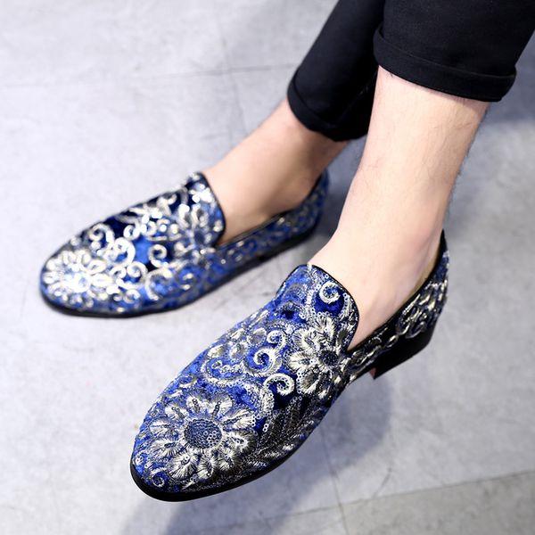 Drop Shipping Erkekler Rahat Nakış Ayakkabı Büyük Boy Erkekler Için 37-48 Tuval Ayakkabı Sürüş Ayakkabı Yumuşak Rahat Adam Ayakkabı Boyutu 37 ~ 48