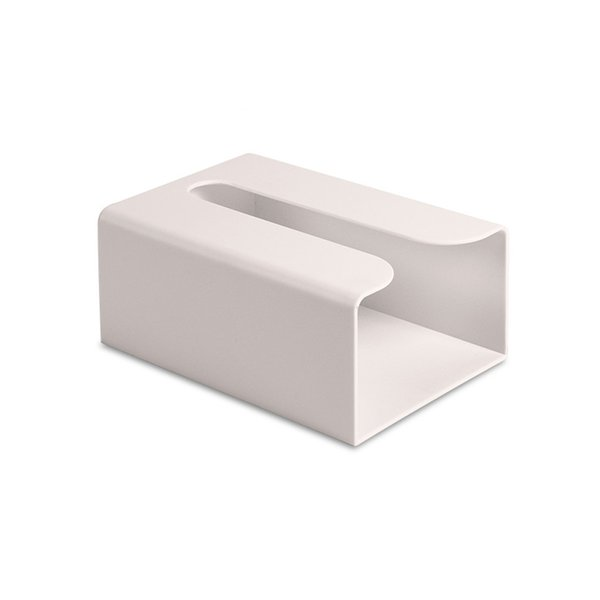 Square Storage Container ABS Solid Household Office Tissue Box Wall-mounted Paper Lightweight Easy Install Dust Resistance