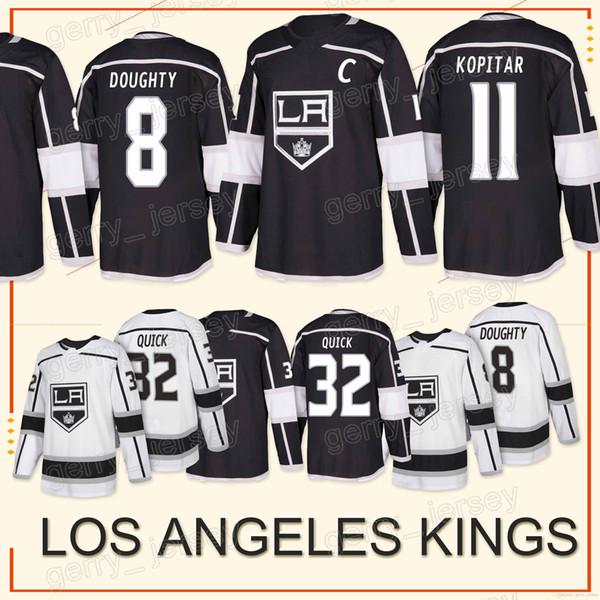 Los Angeles King Trikot 11 Anze Kopitar 8 Drew Doughty 32 Jonathan Quick 11 Anze Kopitar 2018 Hockey-Sportbekleidung