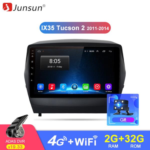 Junsun 2g + 32g andróide 8.1 4g rádio do carro multimídia jogador de navegação gps para hyundai ix35 1 2 tcz lm 2011 2012 2013 2din dvd