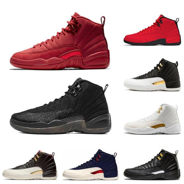 12 Moda 12 s Erkek Basketbol Ayakkabı Winterized Spor Kırmızı Koleji Donanma Kanatları Siyah Cny Bulls Üniversitesi Mavi Erkekler Spor Sneakers Boyutu 7-13
