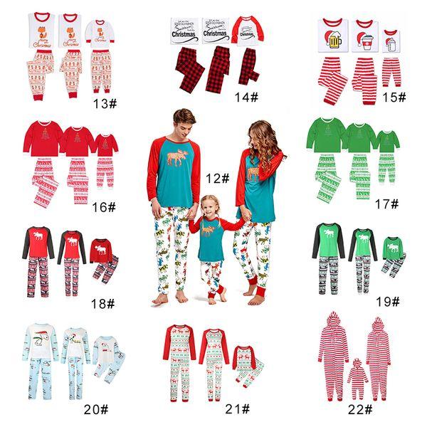 Family Christmas Pajamas 2019 Uk.22style Family Matching Christmas Pajamas Set Red Letters Reindeer Nightclothes Pyjamas Sleepwear For Men Women Child Uk 2019 From Flyger Uk 16 5