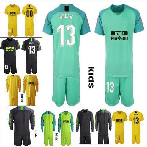 2019 2020 Fußballtorhüter Trikot Shirt KINDER OBLAK GRIEZMANN KOKE DIEGO COSTA Trikot Jungen 18 19 Fußballtorhüter Uniformen