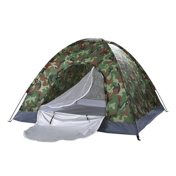 best selling Waterproof 3-4 Person Family Dome Camping Dome Tent Camouflage Hiking Outdoor Portable US Stock
