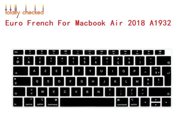 Funda con teclado AZERTY French de clavier en idioma español para el nuevo MacBook