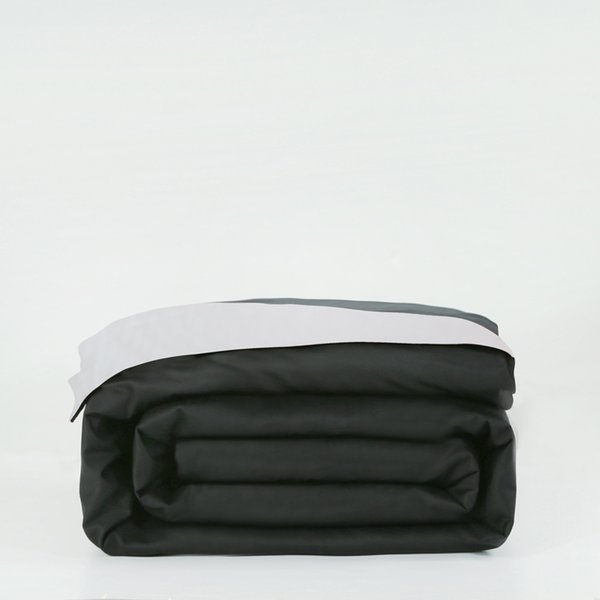 100%cotton white and black duvet cover 150*200/200*230/220*240cm bedding bag twin full queen king size solid simple quilt cover