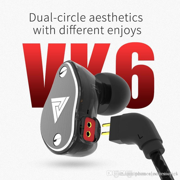 Creative design sport wire headphones VK6 pluggable sports ear hanging bass headset wire-controlled headset for android phone
