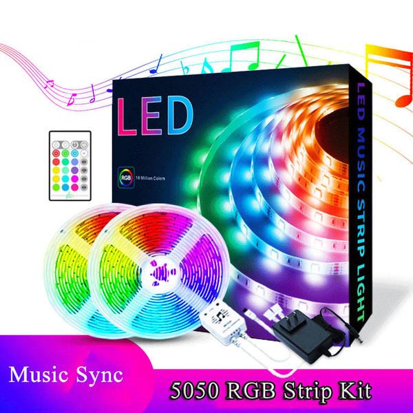 5M+music LED strip kit