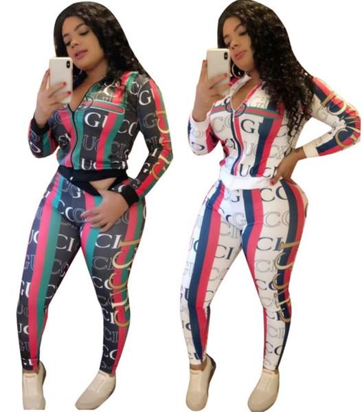 Женская спортивная куртка костюм два кусок набор пробежки спортивный костюм фуфайки колготки спортивный костюм женщин топы костюм брюки klw2405