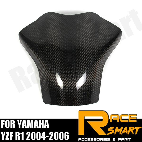 FOR YAMAHA YZF R1 2004 2005 2006 Motorcycle Accessories Carbon Fiber Tank Cover Protector Gas Fuel Case YZFR1 YZF R-1 R 1