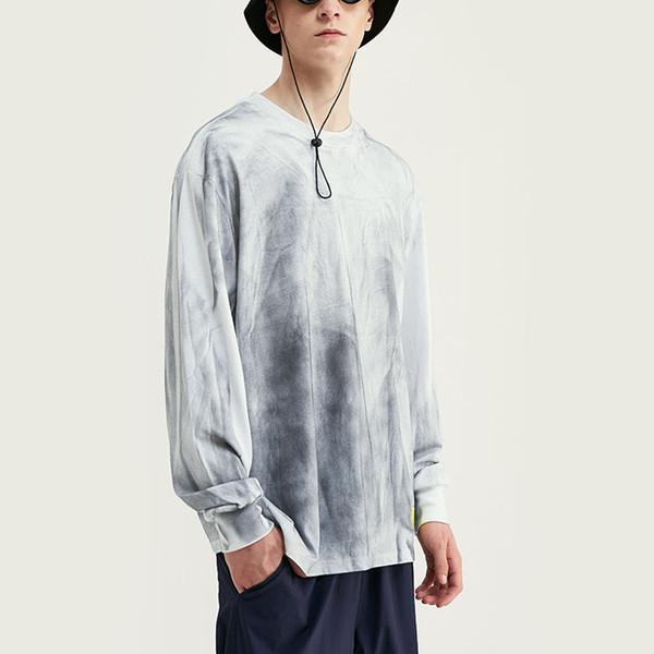 2019 Großhandelsentwerfer-Marke Street der Frauen Männer Langarm-T-Shirt Washing Old Gelegenheitsrundhalsausschnitt lose T-Shirt Top-Qualität B101653V