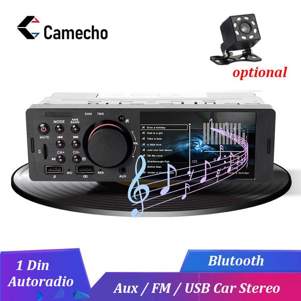 Camecho 1 Din Araç Radyo FM Autoradio Bluetooth Multimedya MP3 MP5 Çalar 4.1