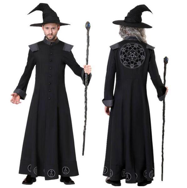 Halloween Cosplay Uniform Mens abiti firmati per Halloween Costumn Suits Wizard di lusso in guidata classiche da uomo Costumi all'ingrosso