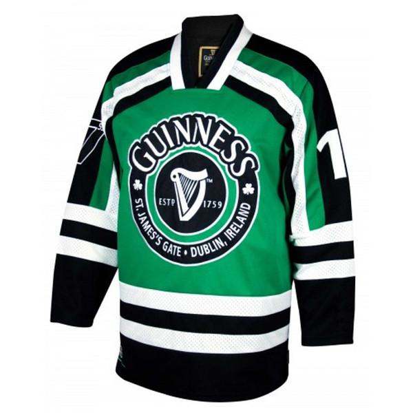 Guinness St.James Kapısı Durblin Ircland Erkek RETRO Hokey Forması Nakış Dikişli Herhangi bir numara ve adın özelleştirin