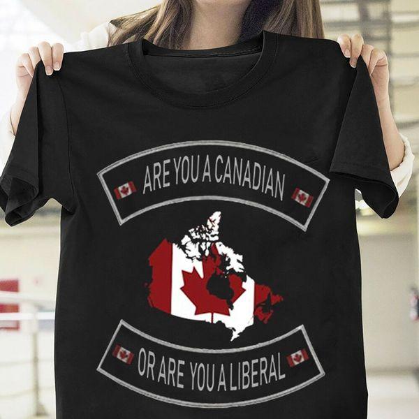 Bandera de Canadá ¿Es usted un canadiense o es una camiseta liberal hombres negros S-6XL tamaño discout nueva camiseta caliente