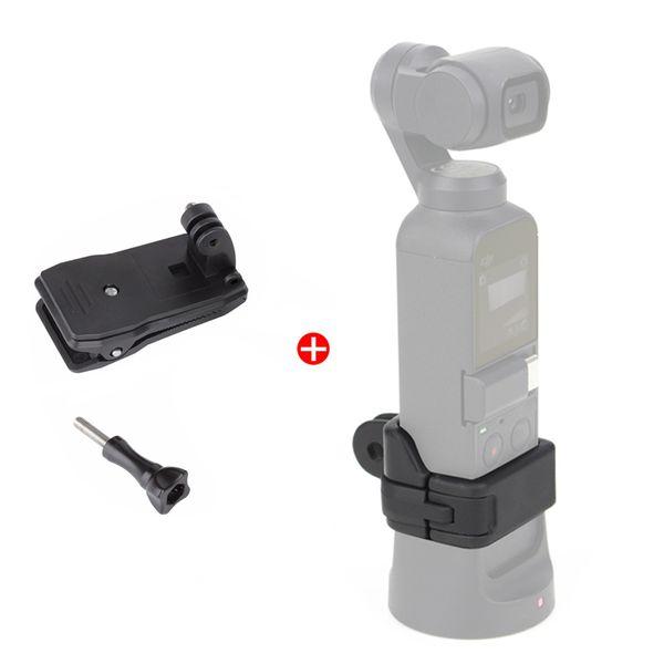Kit de soporte de abrazadera para DJI Osmo Pocket Soporte de soporte de soporte fijo para exteriores con clip de mochila para accesorios de cardán de bolsillo Osmo