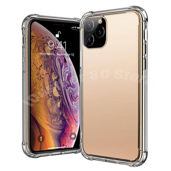 Durchsichtige Telefonhüllen für iPhone 11 XS MAX XR X 8 Plus Note 10 Super-Anti-Klopf-Schutzhülle aus weichem TPU, transparent, stoßfest