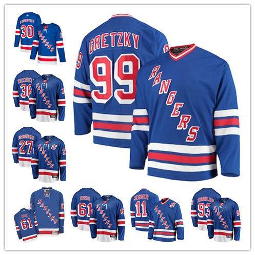 bab1c2c66df Men s New York Henrik Lundqvist Chris Kreider Mats Zuccarello Rangers  Fanatics Branded Breakaway Player home hockey