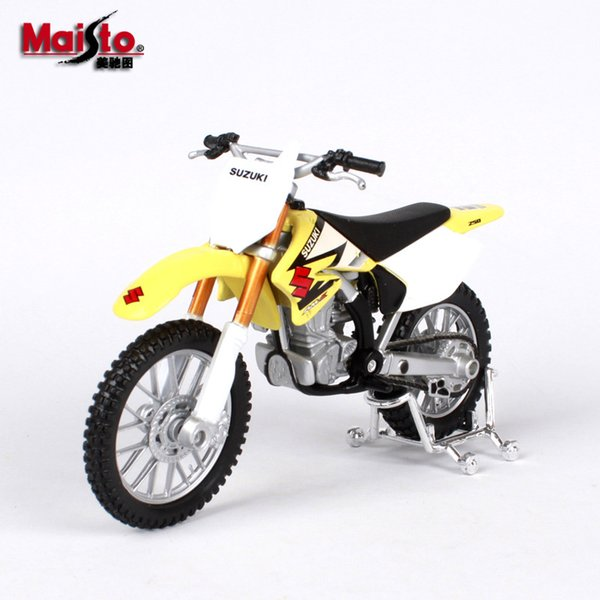 Maisto Alloy Car Model Toy, Suzuki Cross-country Motorcycle, 1:18 High Simulation, for Party Kid' Birthday' Gift, Collecting,Home Decoration