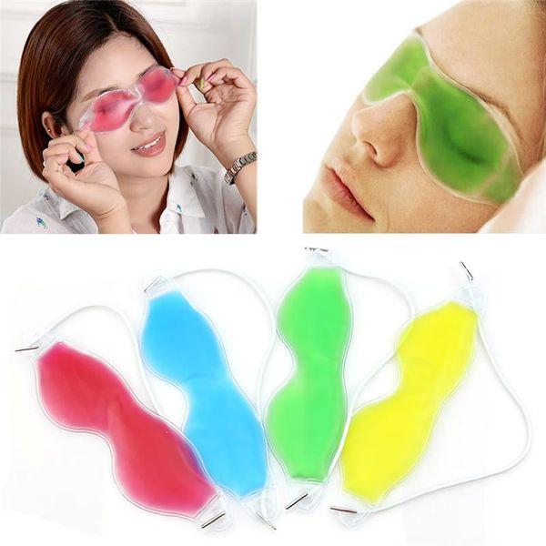 Mescolare i colori occhio di ghiaccio Maschera Ombra Occhiali di protezione per il ghiaccio estivo alleviare l'affaticamento degli occhi rimuovere le occhiaie occhiaie gelide maschere addormentate