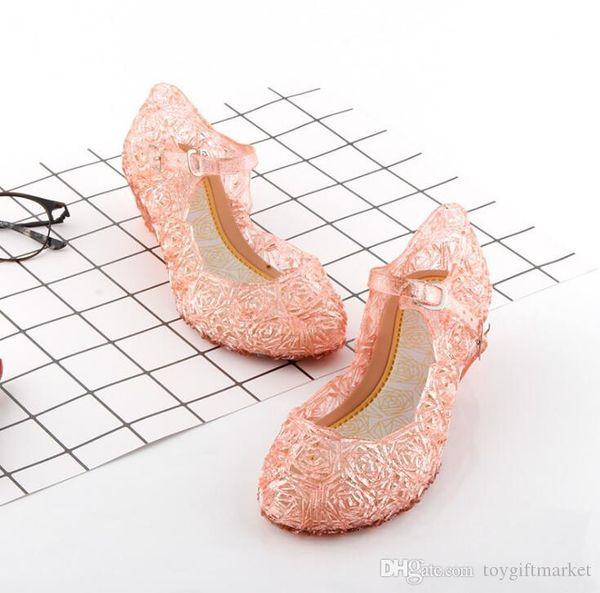 2019 neue kinder Schuhe Mädchen Prinzessin Schuhe Blau Kristall Sandalen Mädchen Cosplay Schuhe Blau PVC Loch Schneeflocke Sandale kinder