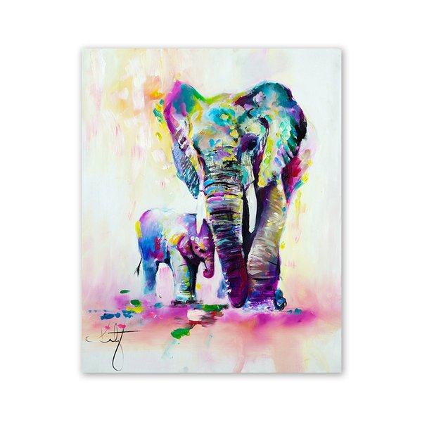 W361 Art Elephant Unframed Wall Canvas Prints for Home Decorations