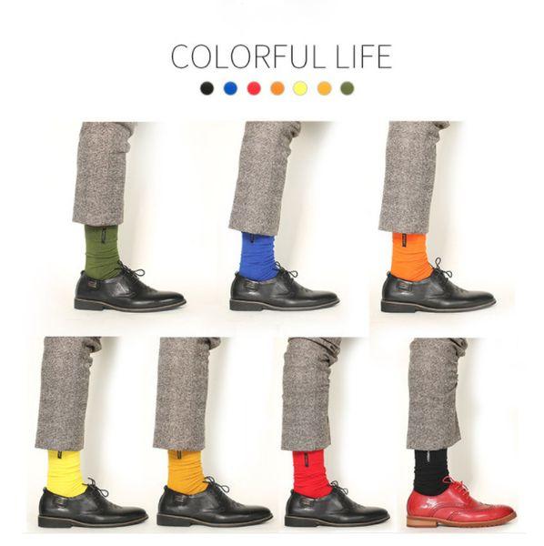 Calcetines masculinos Europa y el estilo de los EE. UU. Nueva tendencia de letras de bordado de gran tamaño calcetines de algodón puro por mayor calcetines de hombre