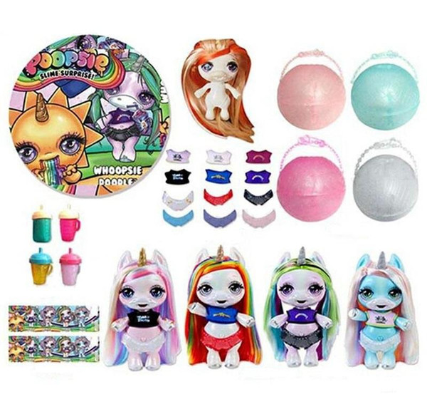 Surprise Unicorn Dolls with Bottle Shirt Diaper Surprise Egg PVC Kawaii Action Figures Dolls for Girls kids toys 200pcs/lot