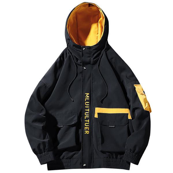 Карго Куртка Мужчины Осень Зима 2019 Новая Мода Уличная Одежда Японский Корейский Свободный Стиль мужские Куртки Хип-Хоп Пальто Человек Марка 4XL