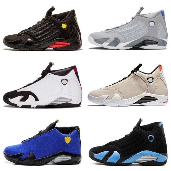 2019 New 14 14s Candy Cane Black Toe Fusion Varsity Red Suede Baby Kids Retro Basketball Shoes Last Shot Thunder Black Yellow DMP Sneakers