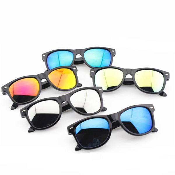 Kids Sunglasses relective mirror children sunglasses kids uv400 Retro sun glasses fashion kids summer eyewear AAA1824