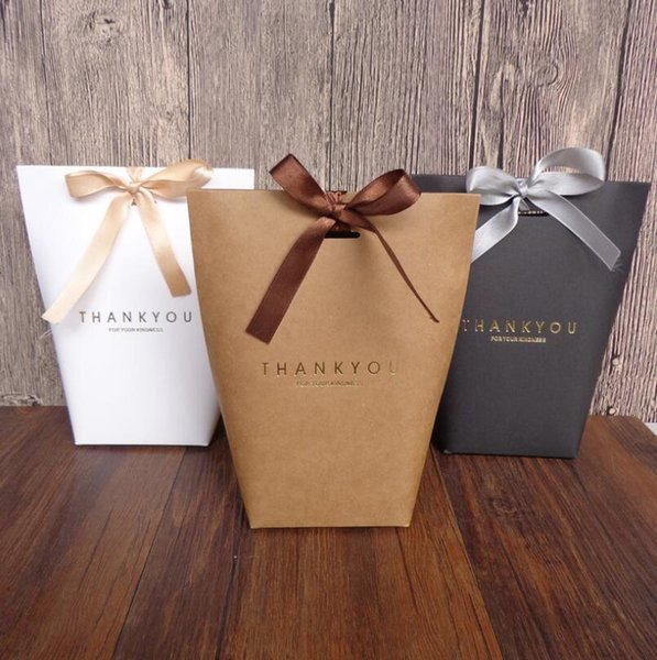 Exquisite Merci Box French Thanks Paper Fold Gift Boxes Large Size No Ribbon Gifts Candy Packing Bag Wedding Decorations LX6301