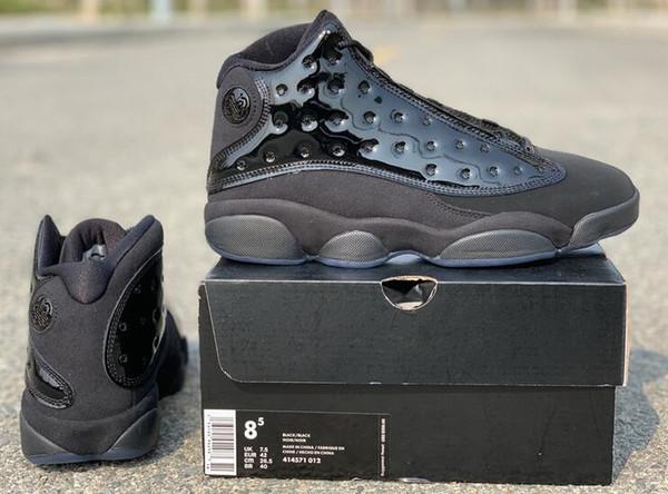 13 Cap and Gown 13s Fibra di carbonio reale di alta qualità con scatola Nuovi uomini di pallacanestro nero Scarpe da ginnastica sportive Sneakers Spedizione gratuita