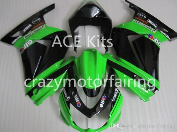 3 Бесплатные подарки Новые обтекатели для KAWASAKI Ninja250R 250R EX250 2008 2009 2010 2011 2012 Ninja set обтекатели кузова зеленый Черный AS1