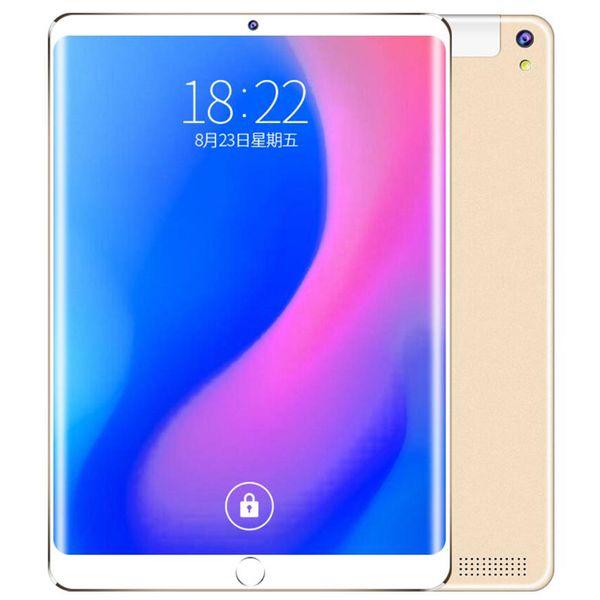 2019 10-дюймовый Tablet PC 3G Phone Call Android 6.0 Wi-Fi Bluetooth 4GB / 64GB окта сердечника Dual SIM WPS GPS PC + чехол пленка клавиатуры