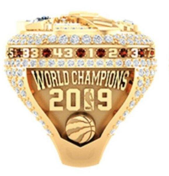 top popular 2018 2019 Raptors Basketball Championship Ring Souvenir Fan Gift Wholesale 2020 Drop Shipping 2020