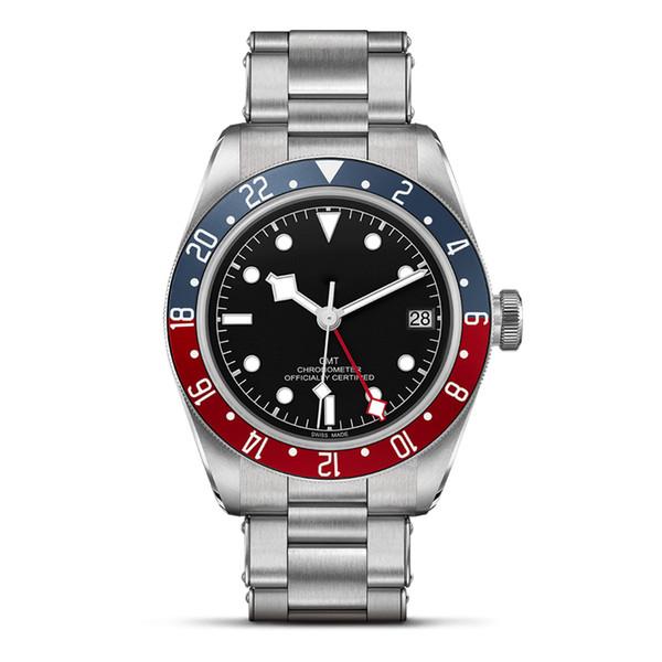 Haute qualité Top montres en acier inoxydable montres de luxe pleine mens date automatique automatique Mouvement 5ATM super imperméable à l'eau lumineuse montre de plongée