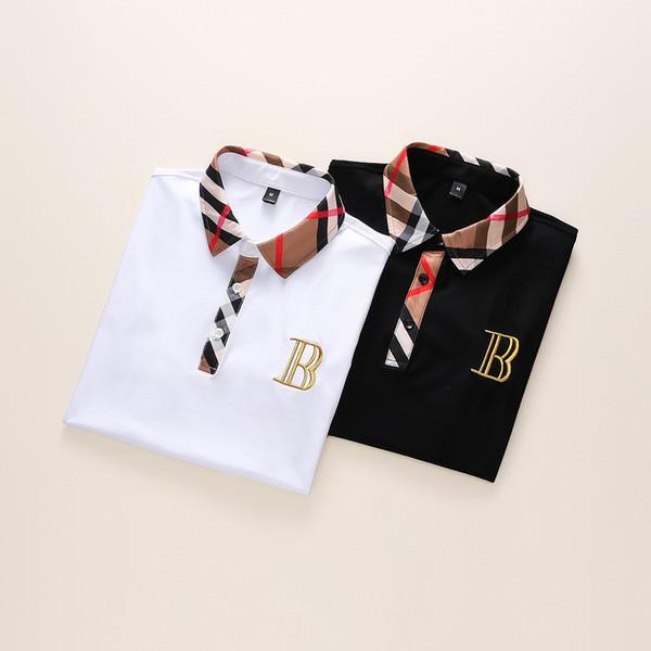 19ss Nueva moda camisas de polo para hombre camiseta bordado de manga corta Polo Marca Basic Top Streetwear moda Tees