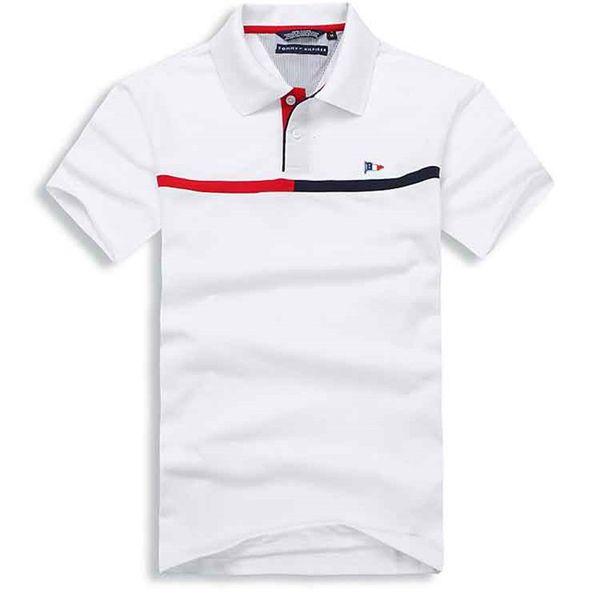 Brand new Hip Hop winter men's t-shirt Short Sleeve Cotton polo shirt shirt men teel hip Designer mens polo t shirts.