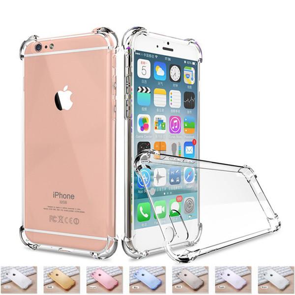 SZAICHGSI Cas de protection contre les chutes d'airbag pour iPhone XS Max XR 7 8 Plus cas de téléphone Soft TPU Effacer la couverture arrière pour iPhone X 8 7 6 6 S Plus cas