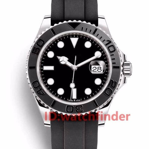 Rubber Oysterflex Strap fashion Yacht Ceramic Bezel Automatic movement Master Mens Rose Gold Luxury Watch Designer Watches Wristwatches
