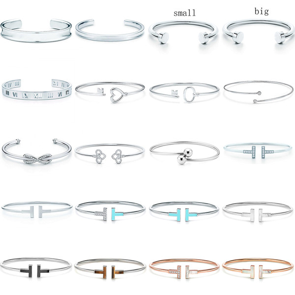 top popular NEW 100% 925 Sterling Silver SL 10 TFB TiF Original Bracelet Classic T-shaped Bracelet Multicolor Optional Luxury Fine Jewerly 2021