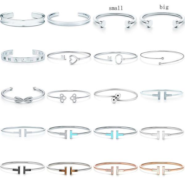 best selling NEW 100% 925 Sterling Silver SL 10 TFB TiF Original Bracelet Classic T-shaped Bracelet Multicolor Optional Luxury Fine Jewerly