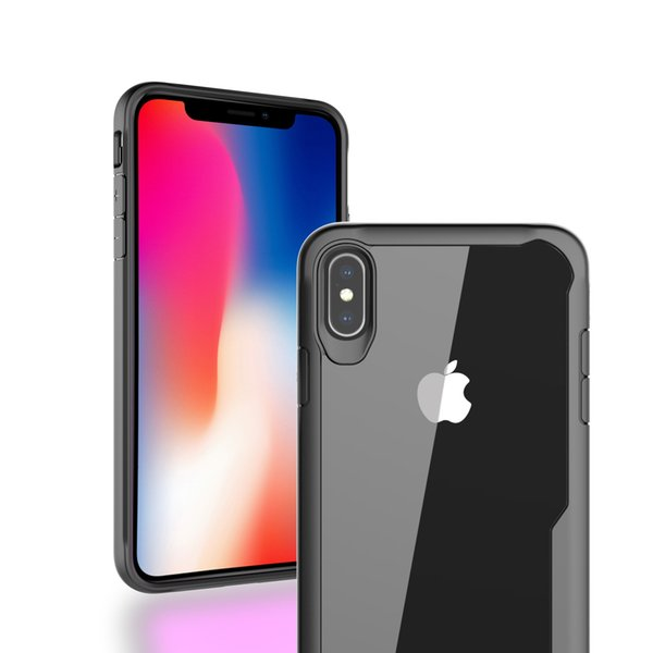 High definition shockproof acrylic for iphone xs armor case pc+tpu back cover for goophone x designer phone case for Samsung A6 plus