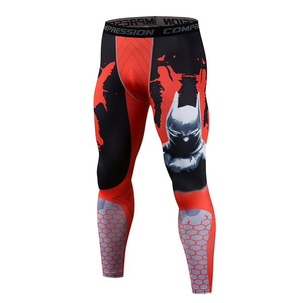 3D printing pattern compression tights men 2018 latest fitness tight leggings men high quality MMA spot