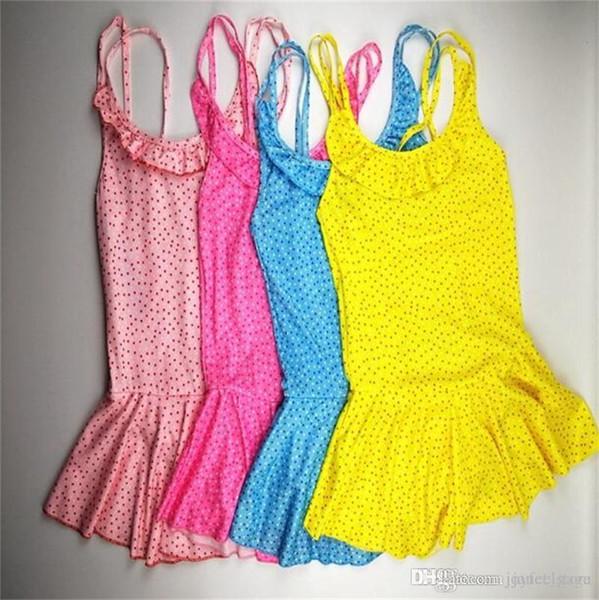 Hot Sale Baby Kid Girl Swimsuit One-Piece swimwear Ruffle Skirt Bathing Suit Summer Clothes Bathing Beach Big Girls Swimming Swimwear 7-12T