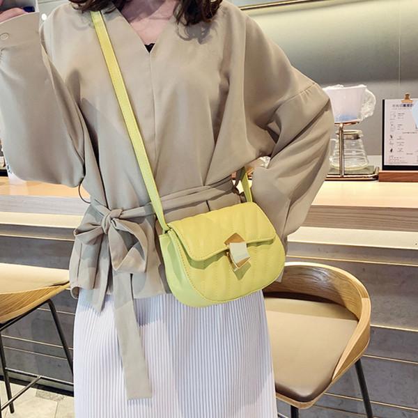 Women famous brands handbags purses and handbags Saddle Bag for Women cross-body messenger bags female Yellow/Black/White